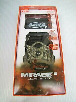 Wildgame Innovations Mirage 18 Lightsout 18MP Trail Camera 8G SD Deer Hunting