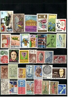 Worldwide Foreign Stamp Lot Collection WW Receive all stamps shown in scan AA-07
