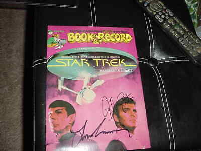 WILLIAM SHATNER & LEONARD NIMOY signed AUTO star trek 1979 COMIC Book & RECORD