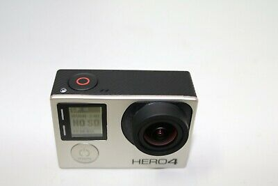GoPro Hero 4 Silver Edition Camcorder CHDHY-401 With Touch Screen -Silver as is