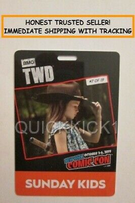 2019 Nycc New York Comic Con Sunday October 6 Kids Ticket Pass Badge! In Hand!
