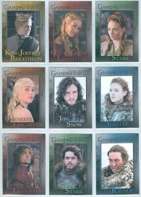 """Complete Set 1-98"" Game Of Thrones Season 3 Daenerys Targaryn Tyrion Jon Snow"