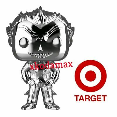Funko Pop! 2019 DC Universe Chrome Silver Joker Target Exclusive Pre-Order