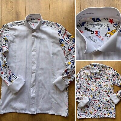 "David Latimer 15""  American Football Pattern Dress Shirt Cufflink Cuffs Quirky"