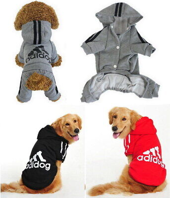 Puppy Small & Large Pet Dog Cat Adidog Clothes Jacket Shirt Hoodie Vest Jumpsuit