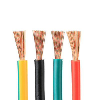 Flexible PVC Cable 1/1.5/2.5/4/6/10/16/25/35mm² RV Copper core Electrical Wire