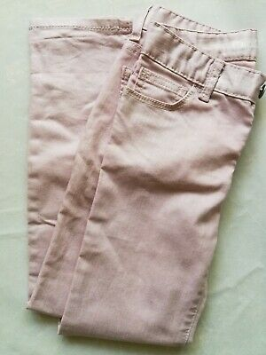 GAP Girls Kids Jeans Skinny Trousers Light Shiny Gliterry Pink 7 Years