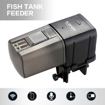 WiFi Automatic Fish Food Feeder Pet Feeding Aquarium Tank Pond Smart Dispenser