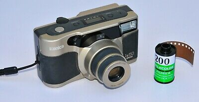 Konica Z-Up 150 VP Compact Zoom Point And Shoot 35mm Film Camera + Fuji Film
