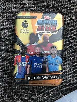 Topps Match Attax Trading Card Game Season 2018/19 PL Title Winners Brand New