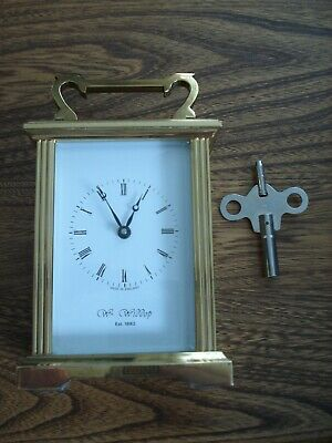 Brass Wm Widdop Carriage Clock