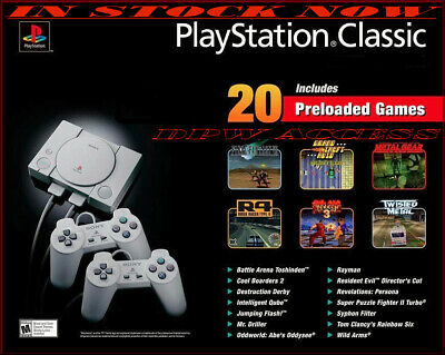 NEW SEALED Sony PlayStation Classic Retro Mini Console 20 Games PS 2 Controllers