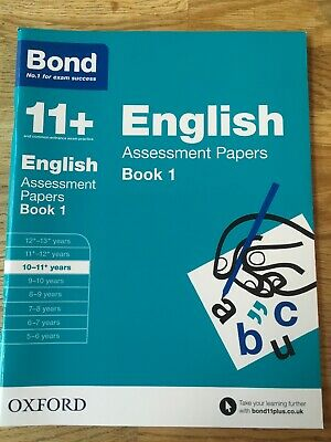 Bond 11+ Plus English Assessment Papers Age 10-11 Book 1 As New