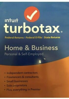 2018 Intuit Turbotax Home & Business Personal Self-Employed Tax Software New