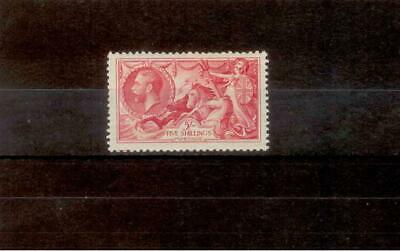 1934 5s Bright Rose-Red Re-Engraved Seahorse Light Mounted Mint SG451 CV £175