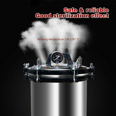 18L XFS-280A Portable Stainless Steel Heating Autoclave High Pressure Sterilizer