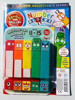 Cbeebies Special Magazine With Number Blocks 11-15 Plus Make 1-5 Too! ~ New ~