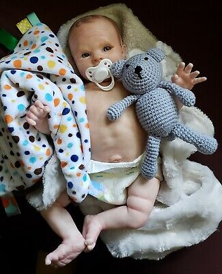 Sweet Reborn Baby Boy*Made with Jewel kit*Custom Hand Painted*Realistic Details
