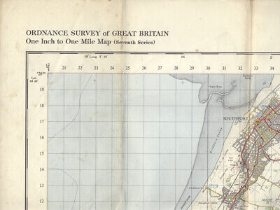 Ordnance Survey map of Liverpool 1966 - One Inch to One Mile - Sheet 100