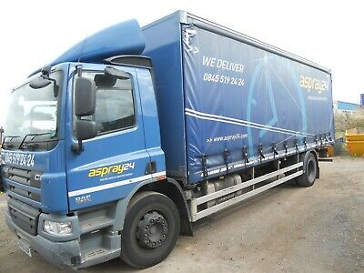 Daf Cf65.250 2013 Day Cab Semiauto Gearbox Steel Suspension 26' Curtainsider
