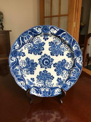 Antique Dutch Delft Plate 18th Century Blue and White