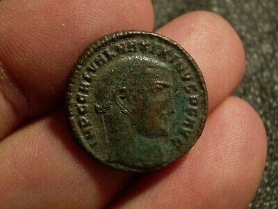 Roman Imperial Maximinus II AE  Follis ancient coin 21.2 mm 4.7 gr