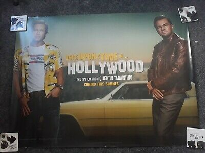 ONCE UPON A TIME IN HOLLYWOOD Original UK Cinema Quad Poster.