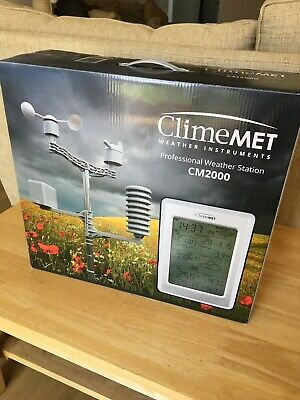 Climemet CM2000 Professional Weather Station Unused New In Box