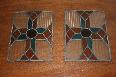 Small Antique Stained glass church windows