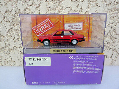 Rare Renault 18 Turbo ou R18 Turbo Rouge 1981  Norev 1/43 Ref: 7711149136