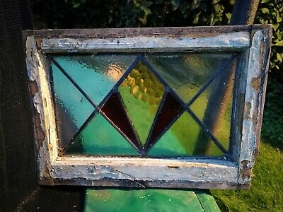 Coloured Stained Glass Windows X2. Upcycle or project
