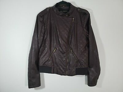 GUESS Women's faux leather scuba jacket XL NWT
