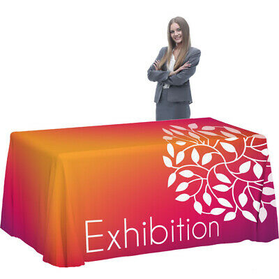 Trade Show 8ft Custom Printed Trade show Tablecloth Design help Available.