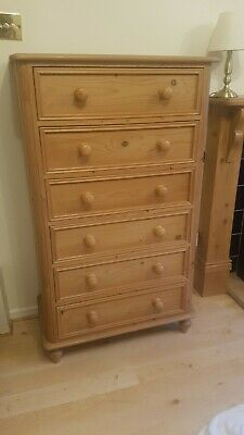6 drawer chest of drawers pine