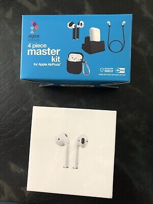 Apple NIB iPhone AirPods w/Charging Case 1st Generation + Accessories - SEALED