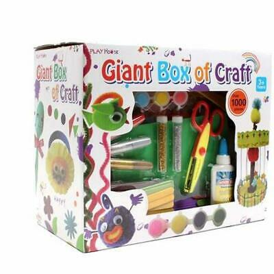 Giant Box of Craft 1000 Pieces Arts and Crafts Set Glitter Kit Childrens Gift