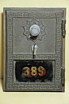 Vintage Us Post Office Brass Combination P.o. Box Door #389 B2