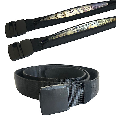 Mens Money Belt with Money Hidden Security Zip Holiday Travelling Money Pouch