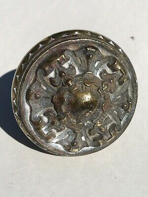 Antique Vintage Brass or Bronze Door Knob Lots Of Patina.