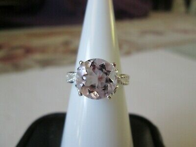 Rose De France Amethyst Sterling Silver Ring TGW 3.32 cts.