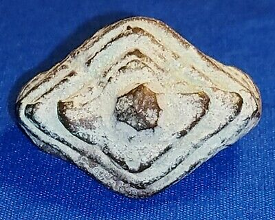 "Ancient Khmer Bronze ""STEP PYRAMID"" RING ANGKOR WAT RELIC, 1 Of, Very Unusual"