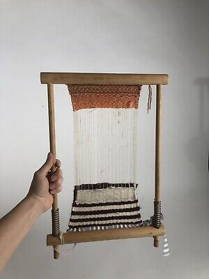 Small Wooden Weaving Loom DIY Tapestry Crafts