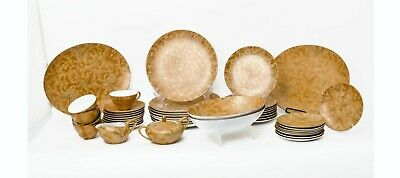 Dorothy Thorpe MCM Gold Butterfly Dinnerware Set, 44 Pieces