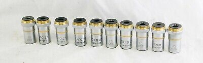 Lot of 10 Laboratory Microscope 10X Lenses 10 / 0.25