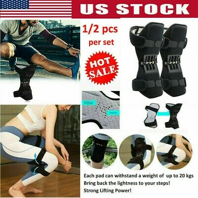 Pair Power Knee Stabilizer Pads Powerful Rebound Spring Force Support Knee Pad