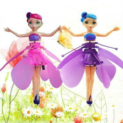 Wireless Flying Fairy Magical Pink Doll Toy Princess Rechargeable Fairy Girls