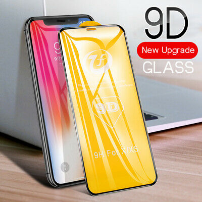 9D Full Tempered Glass For Apple iPhone6 7 8Plus X XS Max XR Screen Protector aa