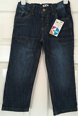New with Tags KIDS DIVISION Boys Blue JEANS age 4-5 yrs - adjustable waist