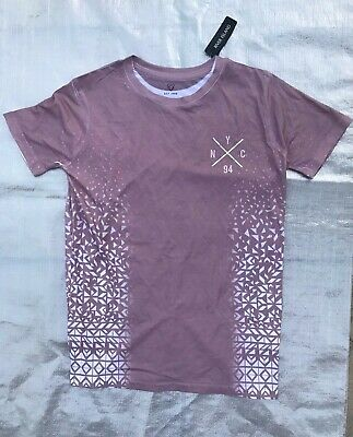"Bnwt Boy's "" River Island "" Nude Pink Graphic T-Shirt - 11  / 12 Years !"