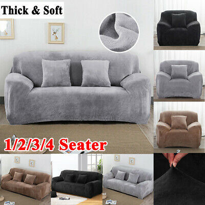 1/2/3/4 Seater Elastic Sofa Slipcover Stretch Protector Couch Cover Thick Plush